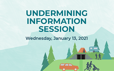 UNDERMINING INFORMATION SESSION NOW ONLINE